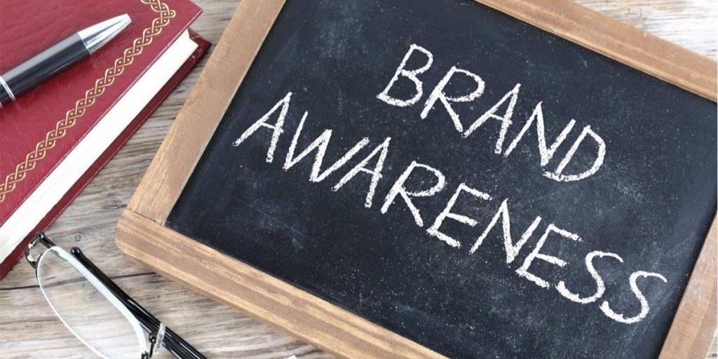 Brand Awareness Written In Chalk